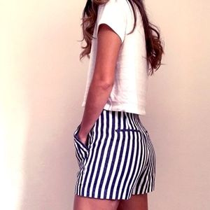 NWT Banana Republic Striped Nautical Shorts SZ 4